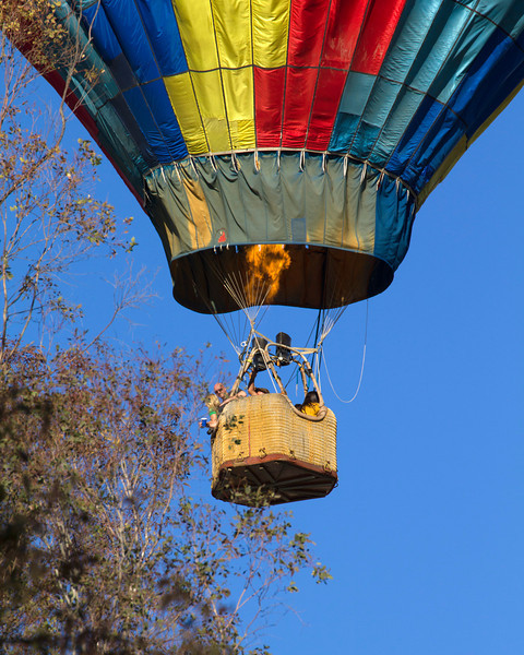 Hot Air Balloon tour by D & D Ballooning of Temecula, CA. This over the Thousand Trails RV Park in Menifee, California on March 2, 2013.