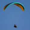 Hang glider over Jackson Hole, WY. August 7, 2013