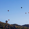Hot Air Balloons dot the sky on a cool Saturday morning west of Menifee, California. March 2, 2013.