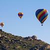 Hot Air Balloons over Menifee, California, 2013.