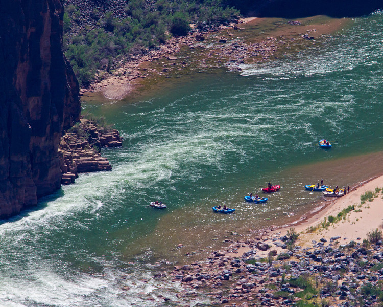 Rafters below the Lava Falls at mile 179 of the Colorado River. May 1, 2013