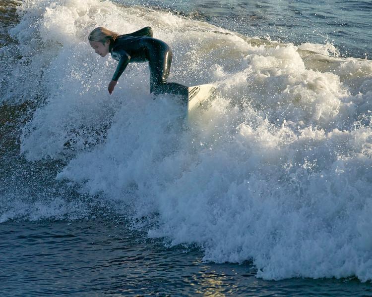 Surfer at Steamers Lane off the Santa Cruz (California) coast. Nov 23, 2007