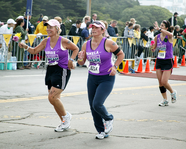 Close to Finish, 26 miles. Women's Nike Marathon on October 22, 2006, San Francisco Leukemia Benefit.