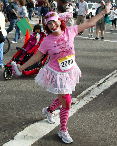 Having Fun, 26 miles. Women's Nike Marathon on October 22, 2006, San Francisco Leukemia Benefit.