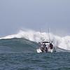 A crashing Mavericks wave
