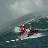 Heading to another Mavericks surfer