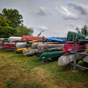 Canoes on Lake Harriett, Square Image