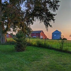 Nebraska Farmscape at Sunset, Square Image