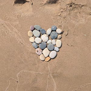 Point Beach Heart of Stones, Square Image