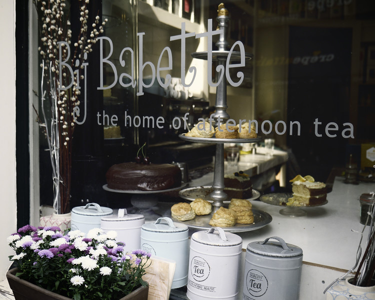 Traditional Tea House With Pastries and Tean Canisters, Haarlem, Amsterdam, The Netherlands