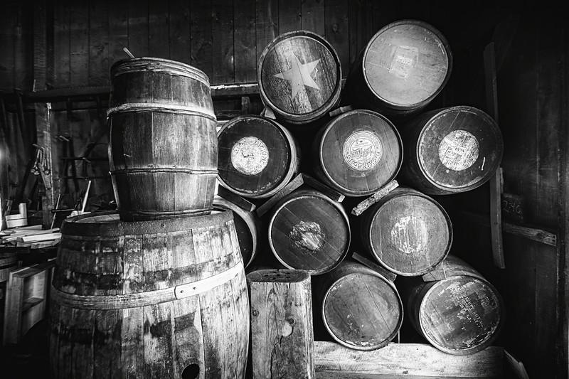 Wooden Barrels Sstored indoors, Cooperage, Mystic Seaport, Connecticut