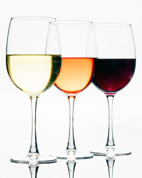 Three Glassess of Different Wines