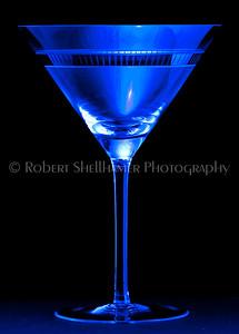 Cold Blue Martini Glass