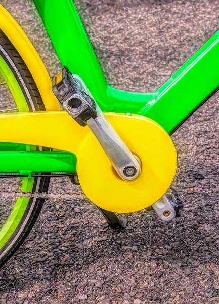 Bike Lines Up Close