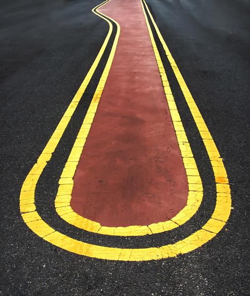 Street Lines Into Infinity