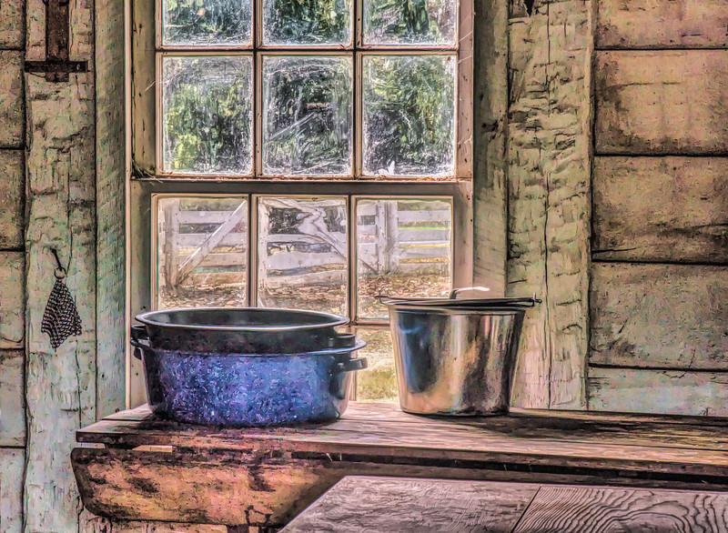 Vintage Kitchen Window Scene