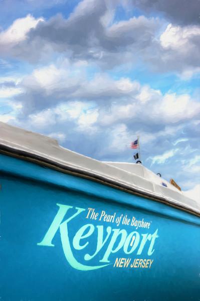 Painterly Keyport Sailboat