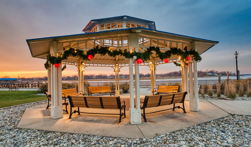 Twilight Christmas At Keyport Gazebo