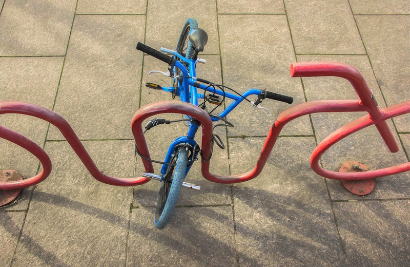 Intersecting Bike And Bike Rack