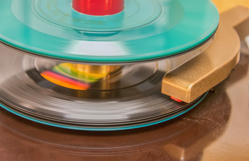 45 RPM Record in Play Mode
