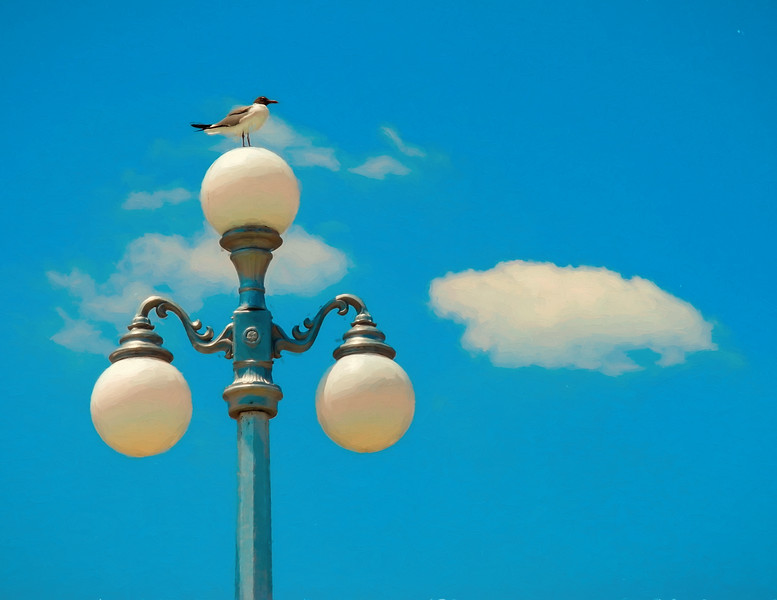 Iconic Avon By The Sea Lampost With Seagul
