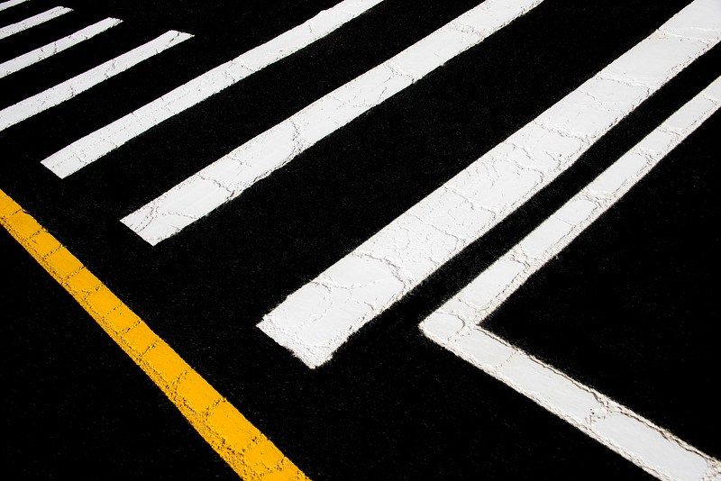 Vanishing Traffic Lines With Colorful Edge