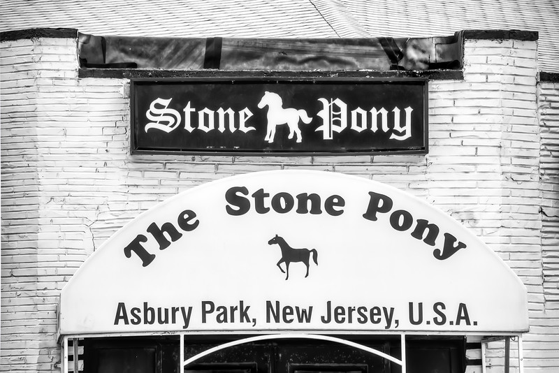 Stone Pony Entrance In Black And White