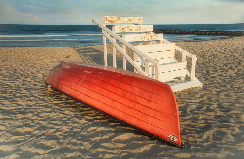 End Of Day for Lifeboat And Lifeguard Sand