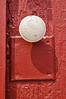White Doorknob On Red Door