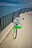 Bicycle Along The Waterfront Walkway