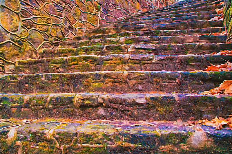 Old Stone Steps From Below