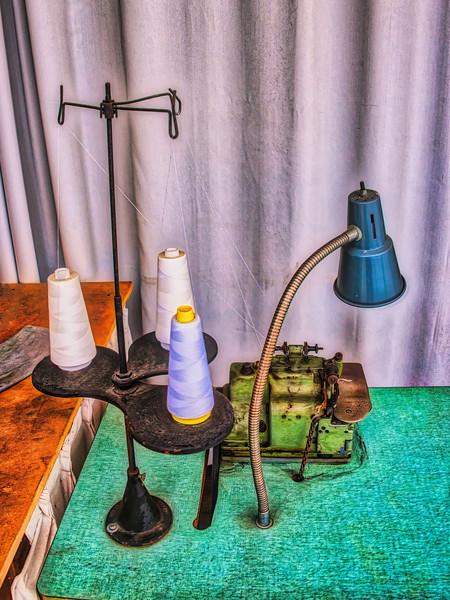 Antique Stitching Machine Station