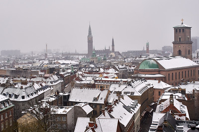 Rooftops in Snow