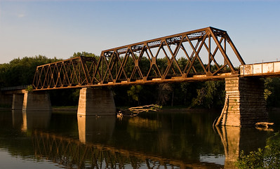 Train Bridge over the Wabash