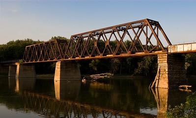 Train Bridge over the Wabash
