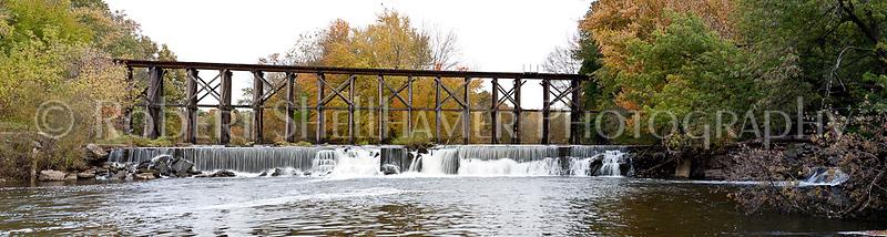 CSX Trestle Over the Rabbit River in Hamilton, MI