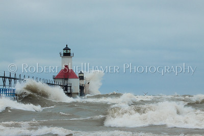 More waves on Lake Michigan
