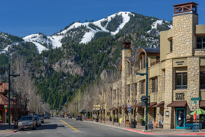 Downtown Ketchum, Idaho in Spring