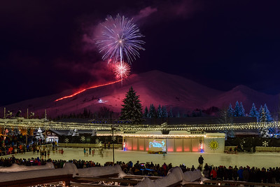 Christmas Eve Fireworks, Sun Valley, Idaho