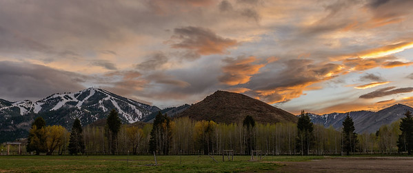 Sun Valley Spring Sunset