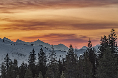 Pioneer Mountains Sunrise, Sun Valley, Idaho