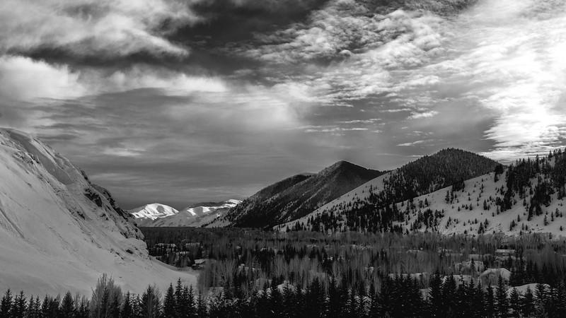 Winter Sunset, Wood River Valley, Idaho