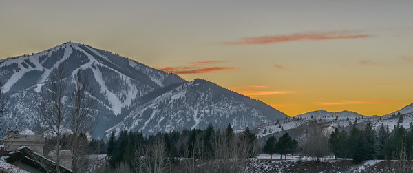 November Sunset in Sun Valley, Idaho