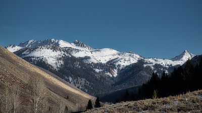 Pioneer Mountains from Sun Valley, Idaho