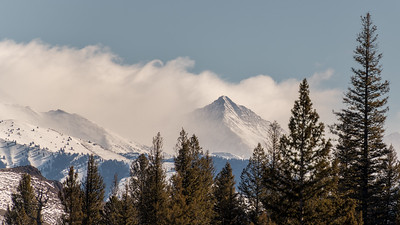 Cobb Peak and Wave Clouds, Sun Valley, Idaho