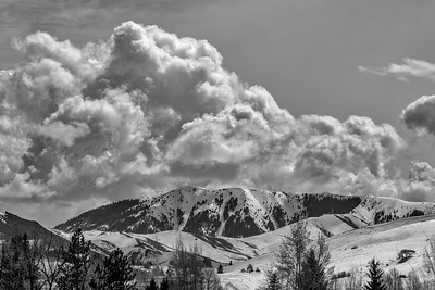 Spring Cumulus Clouds Over Sun Valley, Idaho