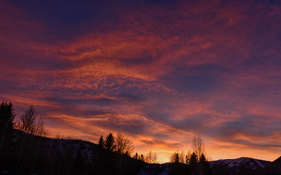 Sun Valley Sunset in December