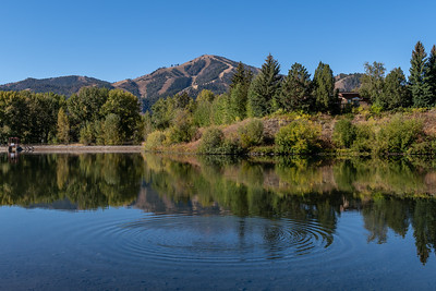 Sun Valley Lake and Bald Mountain in Summer