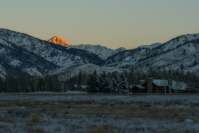Alpenglow on Glassford Peak, Sun Valley, Idaho