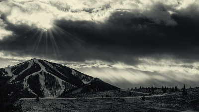 Sunburst Over Sun Valley, Idaho